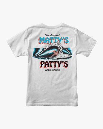 0 Matty's Patty's Pocket TEE White M419URMP RVCA