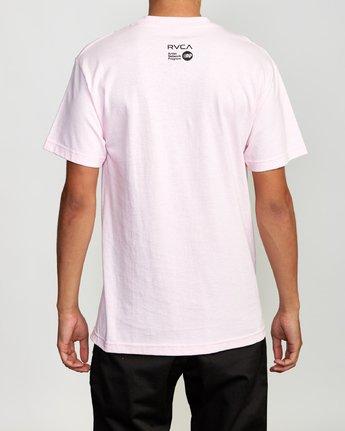4 Beautiful Losers T-Shirt Pink M419VRFO RVCA