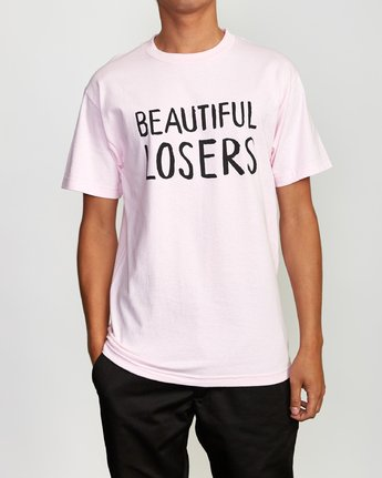 2 Beautiful Losers T-Shirt Pink M419VRFO RVCA