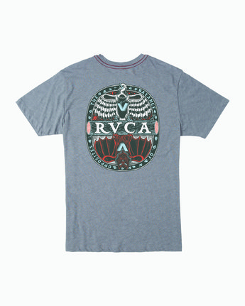 1 OPPOSITES T-SHIRT Grey M4201ROP RVCA