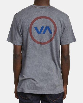 6 VA MOD T-SHIRT Grey M4201RVM RVCA
