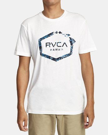 0 ISLAND HEX FILL SHORT SLEEVE T-SHIRT White M4202RIH RVCA