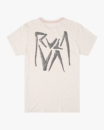 1 MAKO SHORT SLEEVE T-SHIRT White M4202RMA RVCA