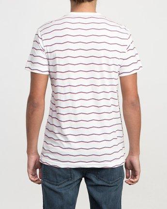 3 VA Stripe T-Shirt White M420PRVA RVCA