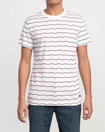 1 VA Stripe T-Shirt White M420PRVA RVCA