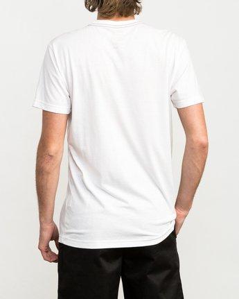 3 Chaos Cactus T-Shirt White M420QRCH RVCA