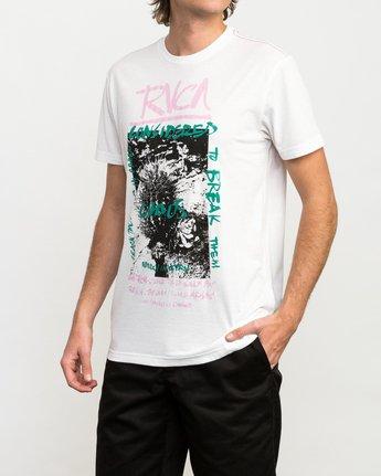 2 Chaos Cactus T-Shirt White M420QRCH RVCA