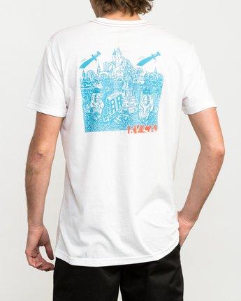 4 Grillo Daggers T-Shirt White M420QRDA RVCA