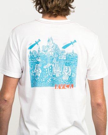 5 Grillo Daggers T-Shirt White M420QRDA RVCA