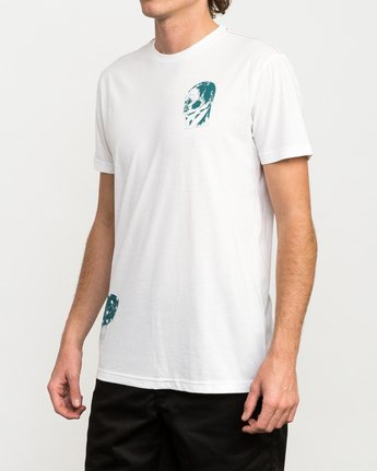 3 Francesco 4Heads T-Shirt White M420QRHE RVCA