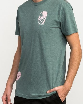 5 Francesco 4Heads T-Shirt Green M420QRHE RVCA