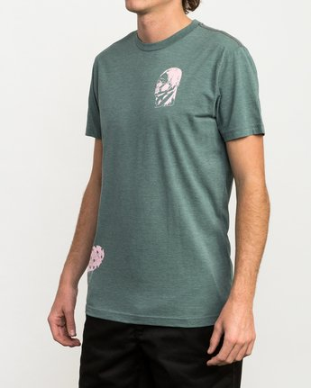 3 Francesco 4Heads T-Shirt Green M420QRHE RVCA
