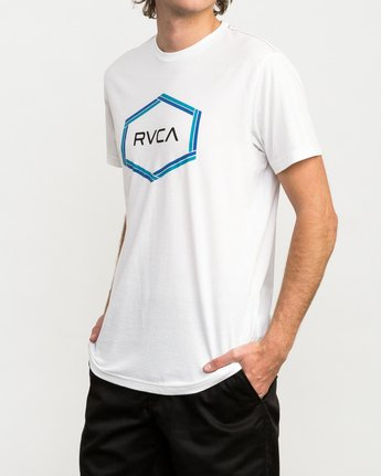 2 Hexest T-Shirt White M420QRHX RVCA