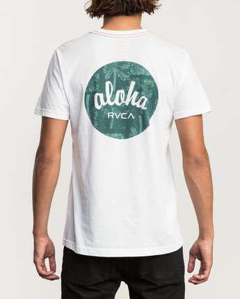 4 Motor Aloha Script T-Shirt  M420QRMA RVCA