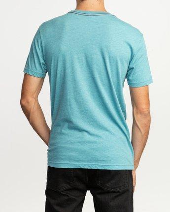 3 Big RVCA T-Shirt Blue M420SRBI RVCA