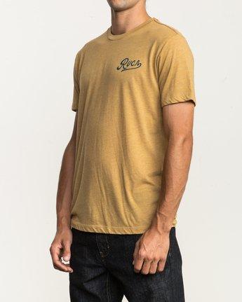 3 North Park T-Shirt Green M420SRNO RVCA