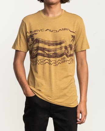 2 Warped Palm T-Shirt  M420SRWA RVCA