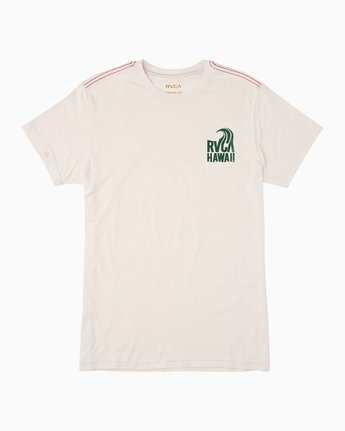 0 Hawaii Curl T-Shirt White M420TRHS RVCA