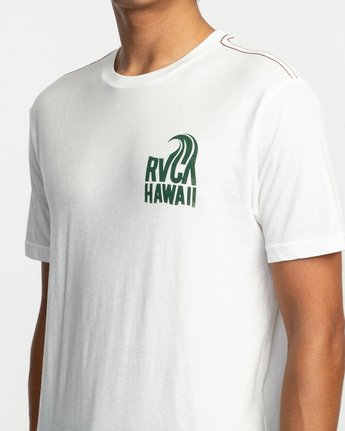 4 Hawaii Curl T-Shirt White M420TRHS RVCA