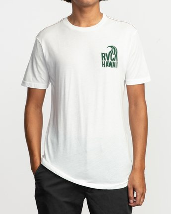 1 Hawaii Curl T-Shirt White M420TRHS RVCA