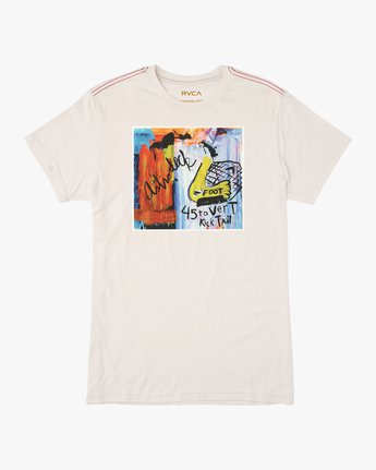 0 Kick Tail T-Shirt White M420TRKI RVCA