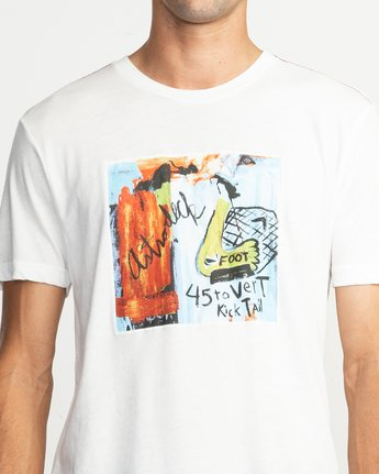 5 Kick Tail T-Shirt White M420TRKI RVCA