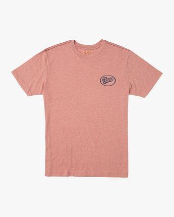 1 One Shott T-Shirt Brown M420TRON RVCA