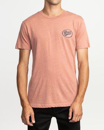 2 One Shott T-Shirt Brown M420TRON RVCA