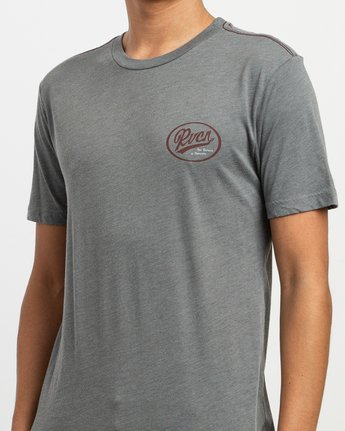 5 One Shott T-Shirt Grey M420TRON RVCA