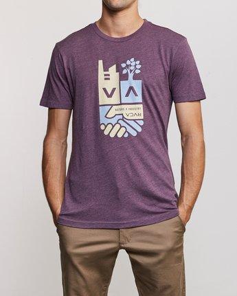 1 Partnered T-Shirt Purple M420URPA RVCA