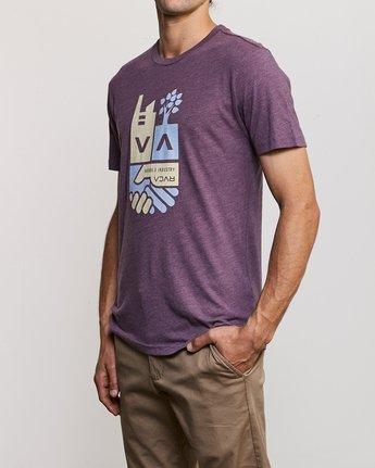 2 Partnered T-Shirt Purple M420URPA RVCA