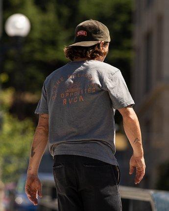 2 Risen T-Shirt Grey M420URRI RVCA