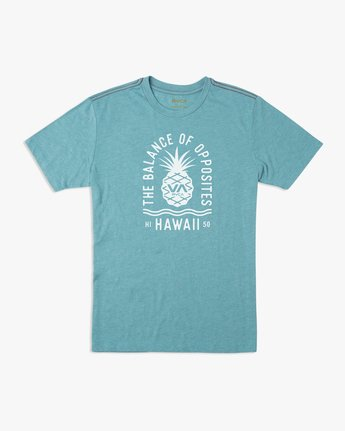 0 Rising Pineapple T-Shirt Blue M420URRP RVCA