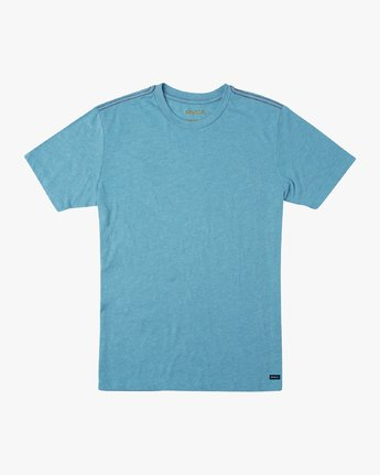 0 Solo Label T-Shirt Blue M420URSO RVCA