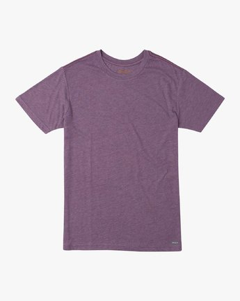 0 Solo Label T-Shirt Purple M420URSO RVCA