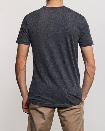 3 Solo Label T-Shirt Black M420URSO RVCA