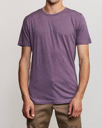 1 Solo Label T-Shirt Purple M420URSO RVCA