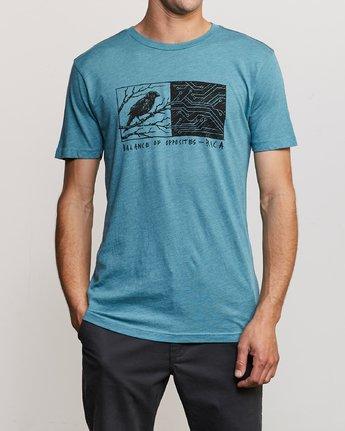 1 Ben Horton Tweet T-Shirt Blue M420URTW RVCA