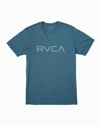 0 Big RVCA T-Shirt Blue M420VRBI RVCA