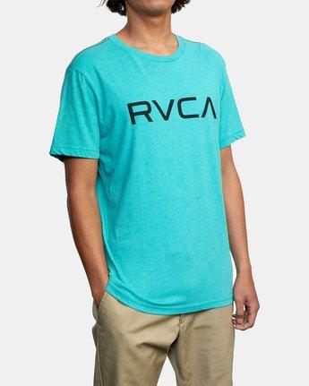 5 BIG RVCA SHORT SLEEVE TEE Blue M420VRBI RVCA
