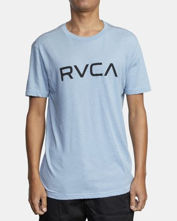 1 BIG RVCA SHORT SLEEVE TEE Blue M420VRBI RVCA