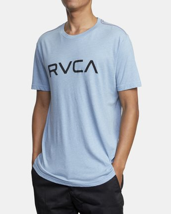 4 BIG RVCA SHORT SLEEVE TEE Blue M420VRBI RVCA