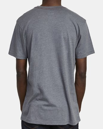 5 BIG RVCA SHORT SLEEVE TEE Grey M420VRBI RVCA