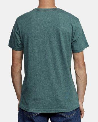 3 Big RVCA T-Shirt Green M420VRBI RVCA