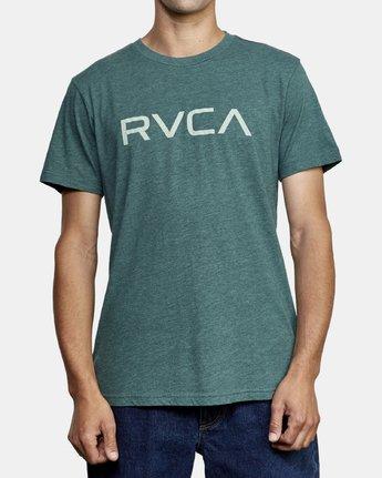 1 Big RVCA T-Shirt Green M420VRBI RVCA