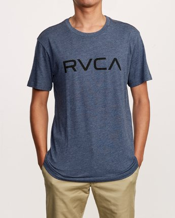 1 Big RVCA T-Shirt Blue M420VRBI RVCA