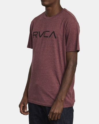 3 BIG RVCA T-SHIRT Red M420VRBI RVCA