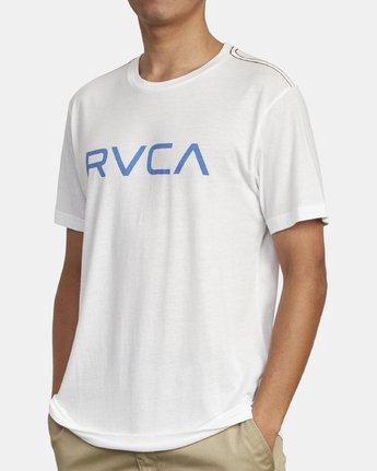 4 BIG RVCA SHORT SLEEVE TEE White M420VRBI RVCA