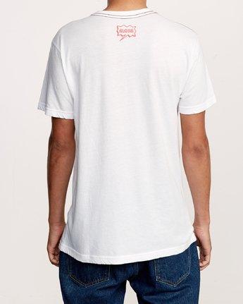 4 Happy Aloha T-Shirt White M420VRHA RVCA