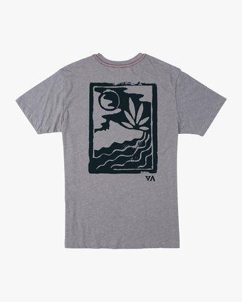 0 Mowgli Linocut T-Shirt Grey M420VRLI RVCA